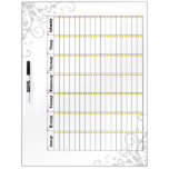 Daily Chore Chart Pink Dry Erase Board