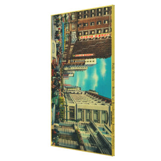 Daily Crowds at Seventh and Broadway Gallery Wrap Canvas
