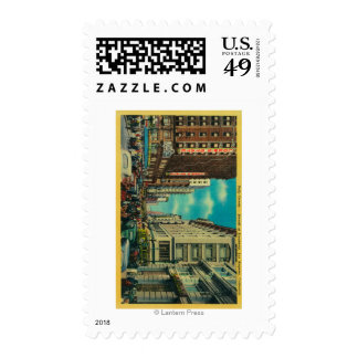 Daily Crowds at Seventh and Broadway Postage Stamp