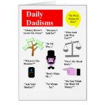 Daily Dadisms Greeting Card