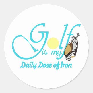 Daily Dose of Iron Classic Round Sticker