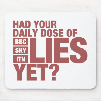 Daily Dose of Lies (UK Media) Mouse Pad