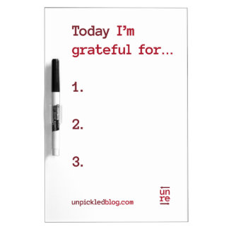 Daily Gratitude Dry-Erase Board (Red)
