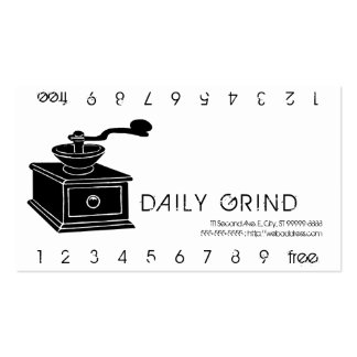 Daily Grind Punchard Business Card Templates