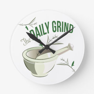 Daily Grind Round Wall Clock