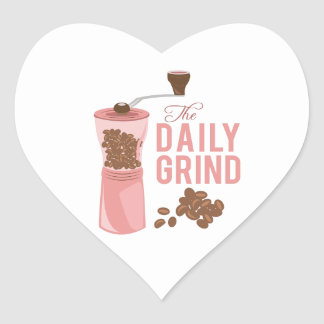 Daily Grind Heart Sticker