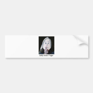 Daily Index Finger Classic Logo Bumper Stickers