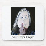 Daily Index Finger Classic Logo Mousepad
