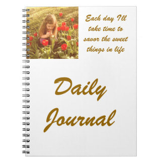daily journal spiral note book