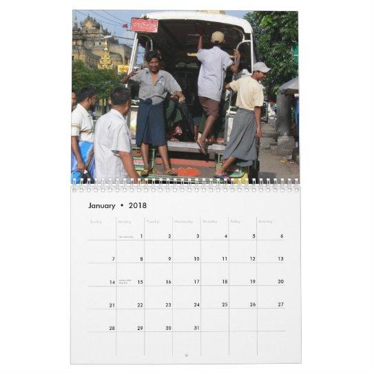 Daily Life Yangon 2012 Calendar