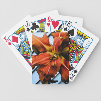 Daily Lily Bicycle Playing Cards