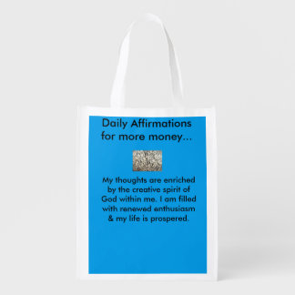 Daily Money Affirmations tote bags Market Tote