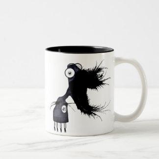 Daily-Monster-41 Two-Tone Coffee Mug
