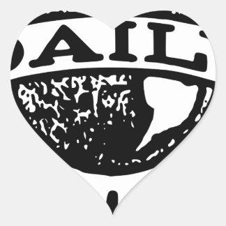 Daily News Heart Sticker