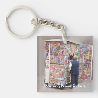 Daily News in Peru - Customizable Text Keychain