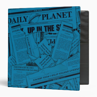 Daily Planet Pattern - Blue Binders