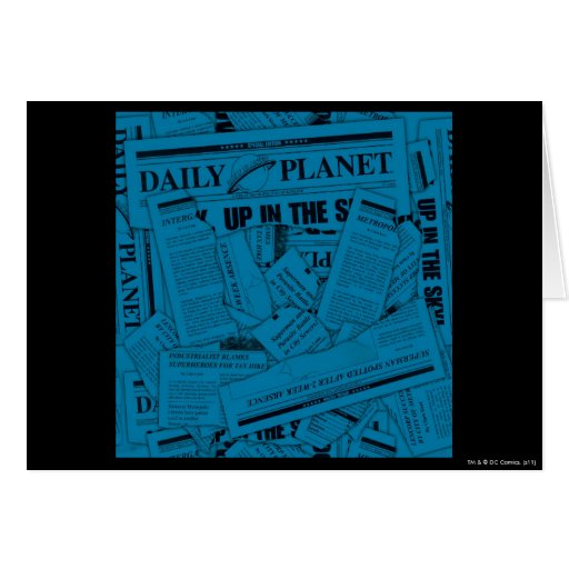 Daily Planet Pattern - Blue Cards