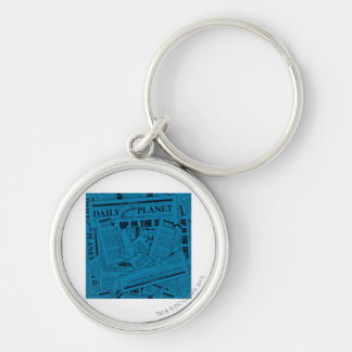 Daily Planet Pattern - Blue Keychain
