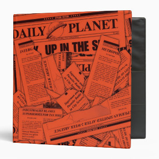 Daily Planet Pattern - Red Binders