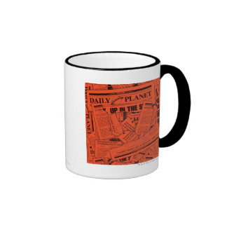 Daily Planet Pattern - Red Coffee Mug