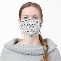 Daily Planet Pattern - White Adult Cloth Face Mask