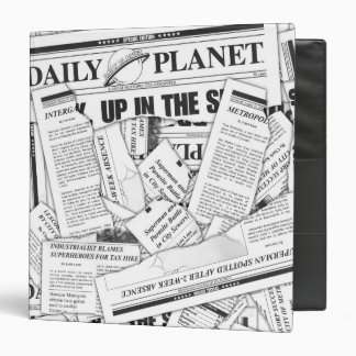 Daily Planet Pattern - White Binders