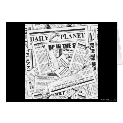 Daily Planet Pattern - White Cards