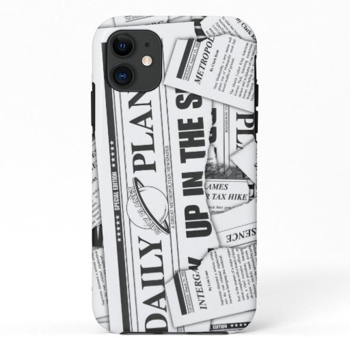 Daily Planet Pattern - White iPhone 11 Case
