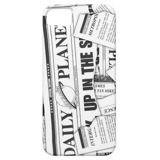 Daily Planet Pattern - White iPhone SE/5/5s Case