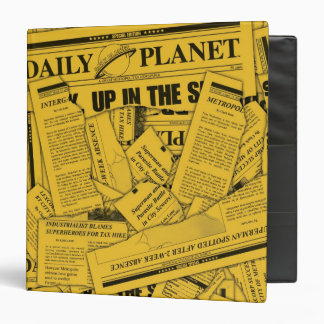 Daily Planet Pattern - Yellow Binders