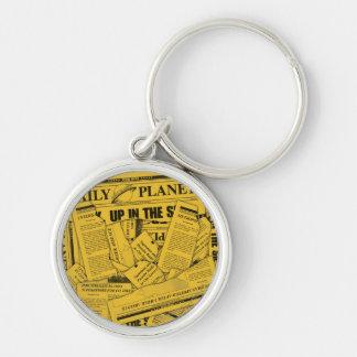 Daily Planet Pattern - Yellow Keychain
