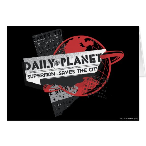 Daily Planet - Saves the City Card