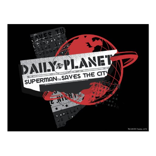 Daily Planet - Saves the City Post Cards