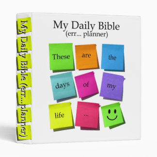 Daily Planner 3 Ring Binder