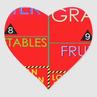 Daily Portions Guide Heart Sticker