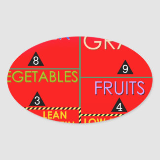 Daily Portions Guide Oval Sticker