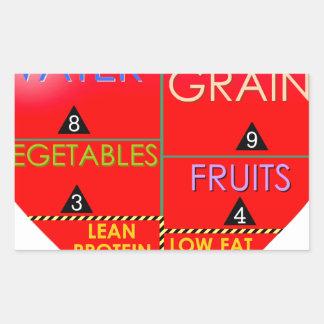Daily Portions Guide Rectangular Sticker