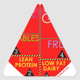 Daily Portions Guide Triangle Sticker