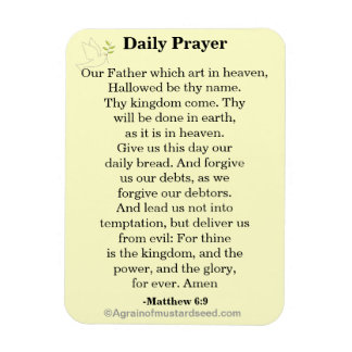 Daily Prayer Our Father KJV Magnet