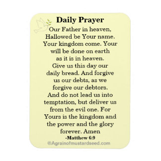 Daily Prayer Our Father NKJV Magnet