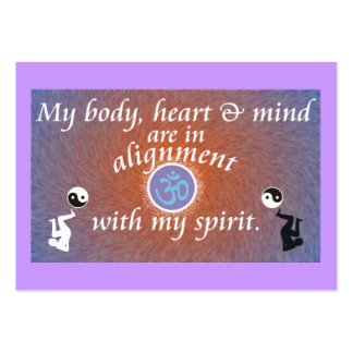 Daily Reminder - Body Alignment Large Business Cards (Pack Of 100)
