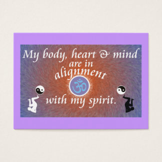 Daily Reminder - Body Alignment Business Card
