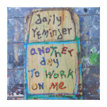 daily reminder canvas print