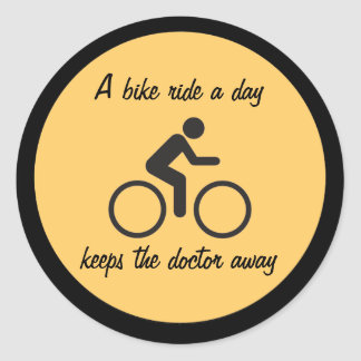 daily ride classic round sticker