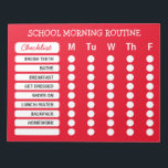 """Daily Routine Checklist Notepad Custom Color<br><div class=""""desc"""">Customize with your or your child&#39;s morning routine. Change the background color to suit your taste. For kids you can use star stickers to mark off each circle as they get in the habit of their morning routine. Bold all caps text easy for young readers to read. Click &quot;Customize It&quot;...</div>"""