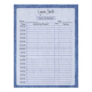 Daily Schedule Denim Letterhead