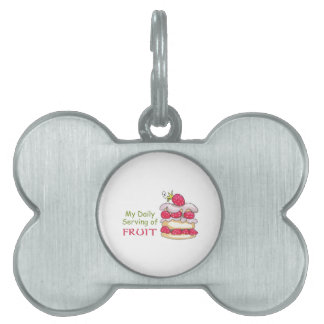 Daily Serving Of Fruit Pet ID Tag