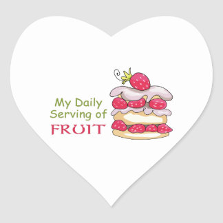 Daily Serving Of Fruit Heart Sticker