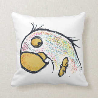 daily sketch #1 parrot pillow