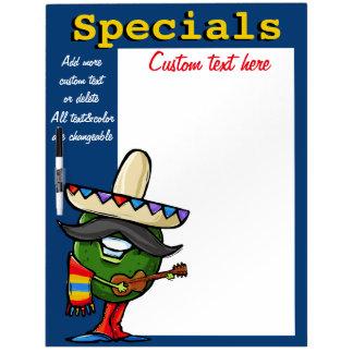 Daily Special Menu Memo Board Mexican Avocado blue Dry Erase Board